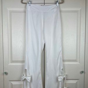 CQ by CQ Flared Pants Bow Detailed White Ivory